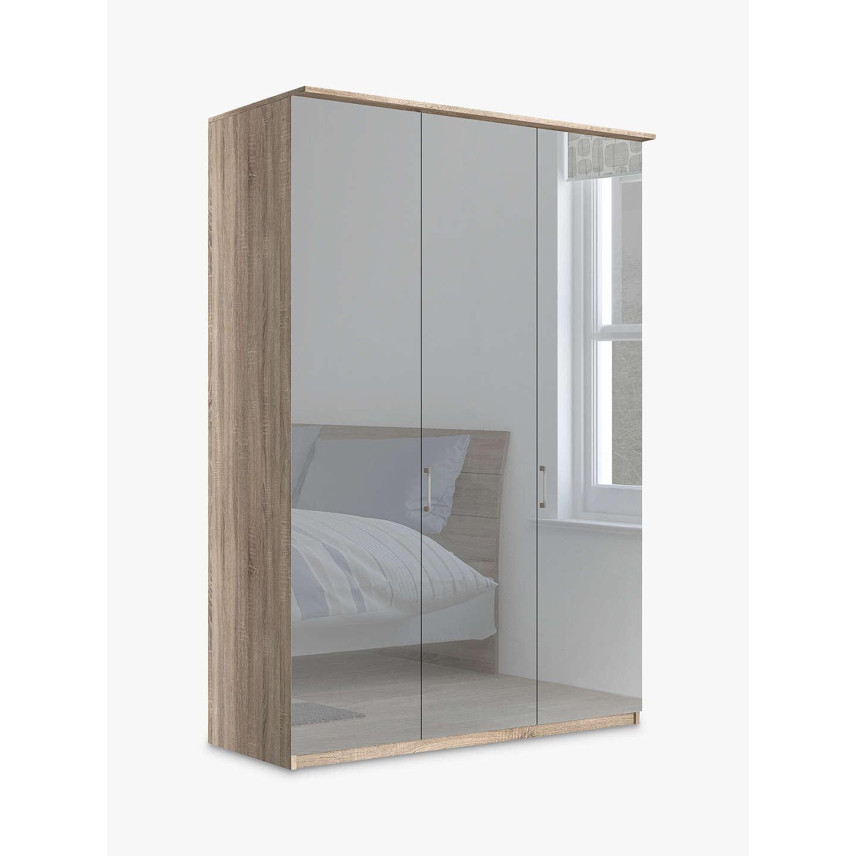 john lewis elstra 150cm wardrobe with mirrored hinged. Black Bedroom Furniture Sets. Home Design Ideas