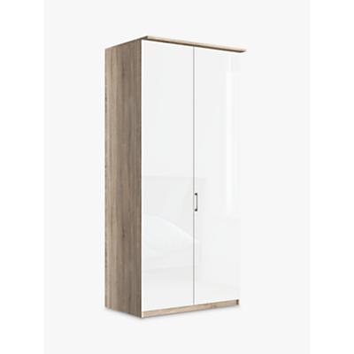 John Lewis Elstra 100cm Wardrobe with Glass Hinged Doors