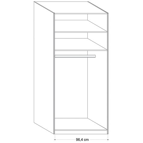 Buy John Lewis Elstra 100cm Wardrobe With Glass Hinged