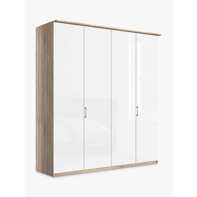 John Lewis Elstra 200cm Wardrobe With Glass Hinged Doors
