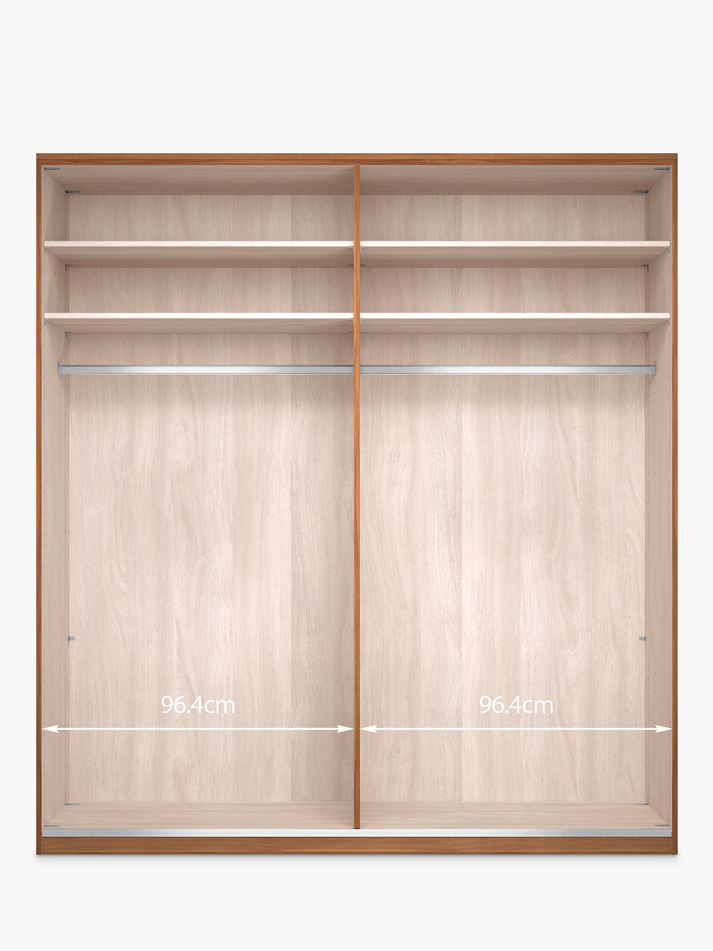 Buy John Lewis & Partners Elstra 200cm Wardrobe with Glass Hinged Doors, White Glass/Light Rustic Oak Online at johnlewis.com