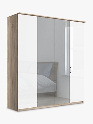 John Lewis U0026 Partners Elstra 200cm Wardrobe With Glass And Mirrored Hinged  Doors