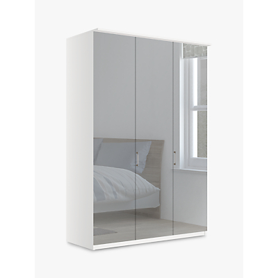 John Lewis & Partners Elstra 150cm Wardrobe with Mirrored Hinged Doors
