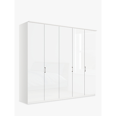 John Lewis & Partners Elstra 250cm Wardrobe with Glass Hinged Doors
