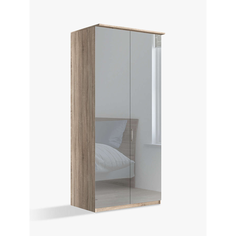 john lewis elstra 100cm wardrobe with mirrored hinged. Black Bedroom Furniture Sets. Home Design Ideas