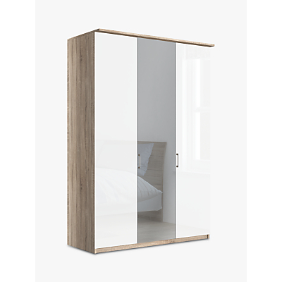 John Lewis & Partners Elstra 150cm Wardrobe with Glass and Mirrored Hinged Doors