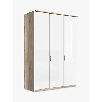 John Lewis Elstra 150cm Wardrobe with Glass Hinged Doors