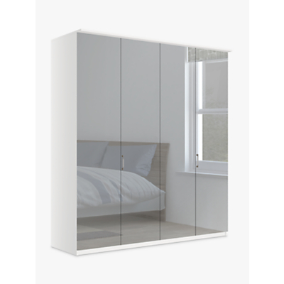 John Lewis & Partners Elstra 200cm Wardrobe with Mirrored Hinged Doors