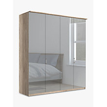 Buy John Lewis Elstra 200cm Wardrobe with Mirrored Hinged Doors Online at johnlewis.com