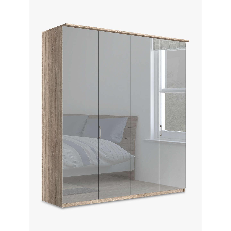 john lewis elstra 200cm wardrobe with mirrored hinged. Black Bedroom Furniture Sets. Home Design Ideas