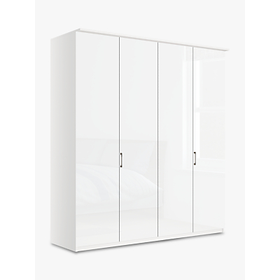 John Lewis & Partners Elstra 200cm Wardrobe with Glass Hinged Doors