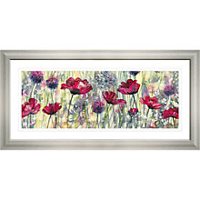 Buy Catherine Stephenson Raspberry Poppy Framed Print, 55.5 x 110.5cm Online at johnlewis.com