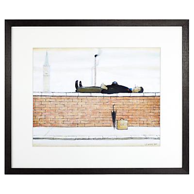 LS Lowry – Man Lying On A Wall Framed Print, 36 x 42.6cm