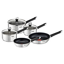 Buy Tefal Emotion Stainless Steel Pan Set, 5 Pieces Online at johnlewis.com