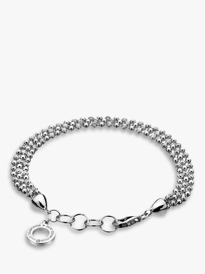 Hot Diamonds Hot Diamonds Sterling Silver Bead Bracelet, Silver