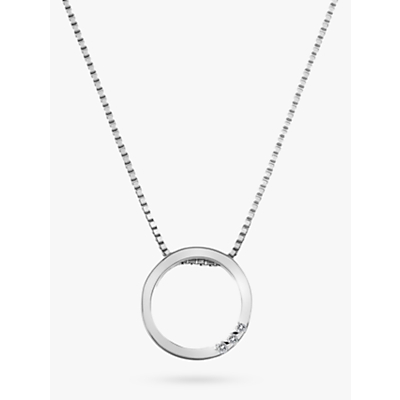 Image of Hot Diamonds Sterling Silver Halo Circle Pendant, Silver