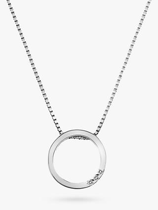 Hot Diamonds Sterling Silver Halo Circle Pendant, Silver