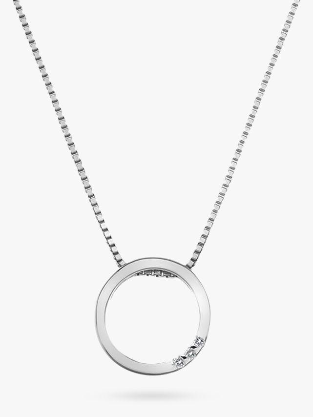 Hot Diamonds Hot Diamonds Sterling Silver Halo Circle Pendant, Silver