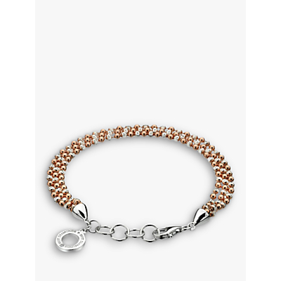Image of  			   			  			   			  Hot Diamonds Sterling Silver Bead Bracelet, Rose Gold/Silver