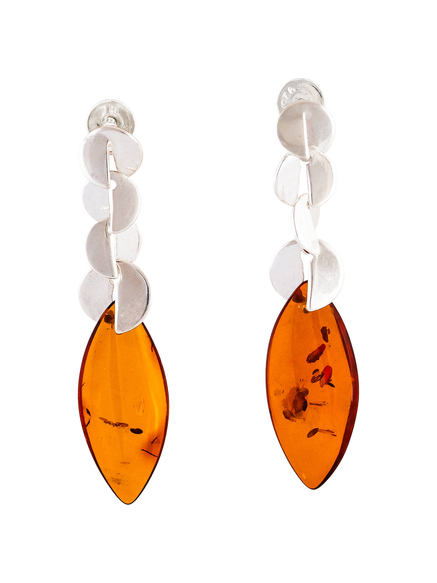 Buy Be-Jewelled Cognac Amber Decorative Drop Earrings, Amber Online at johnlewis.com