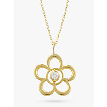 Buy EWA 9ct Gold Open Flower Birthstone Pendant Online at johnlewis.com