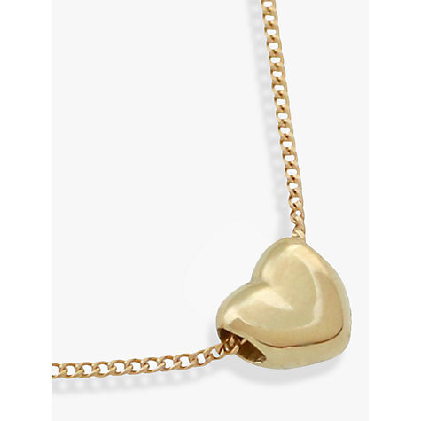 Buy nina breddal 9ct gold small heart pendant gold john lewis buy nina breddal 9ct gold small heart pendant gold online at johnlewis mozeypictures Choice Image