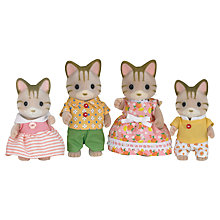 Buy Sylvanian Families Striped Cat Family Online at johnlewis.com