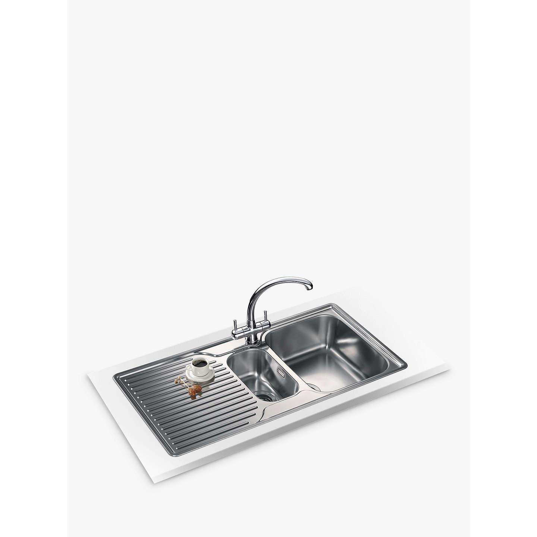 1.5 Bowl Kitchen Sink Franke ariane arx 651p right hand 15 bowl kitchen sink stainless buyfranke ariane arx 651p right hand 15 bowl kitchen sink stainless steel online at johnlewis workwithnaturefo