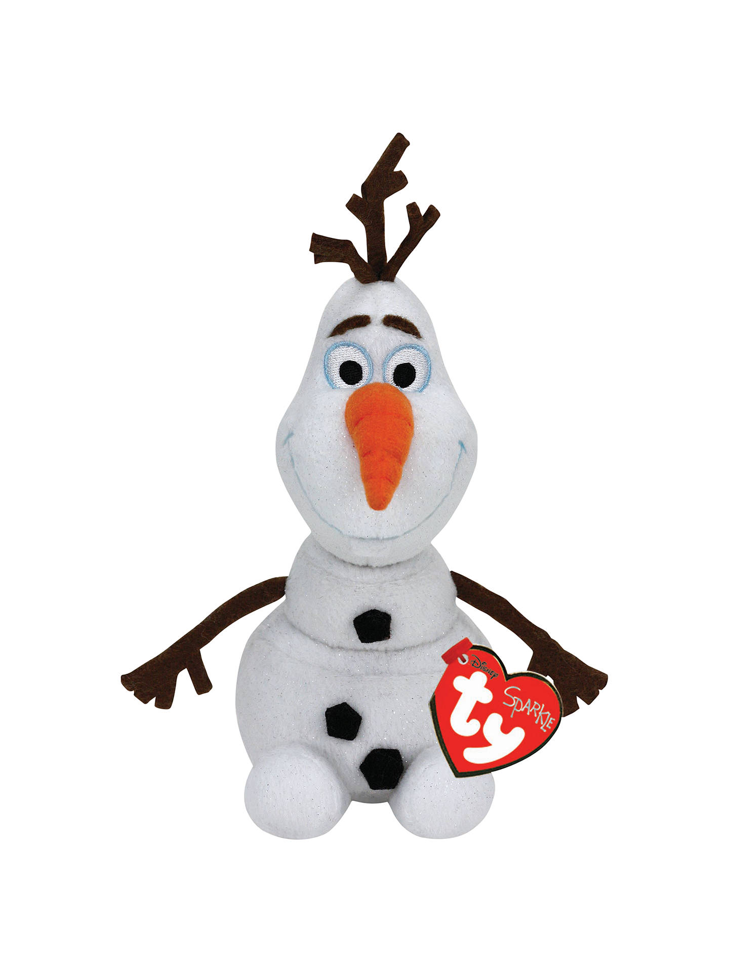 42c5d716da85 Buy Ty Disney s Frozen Olaf Beanie Soft Toy Online at johnlewis.com