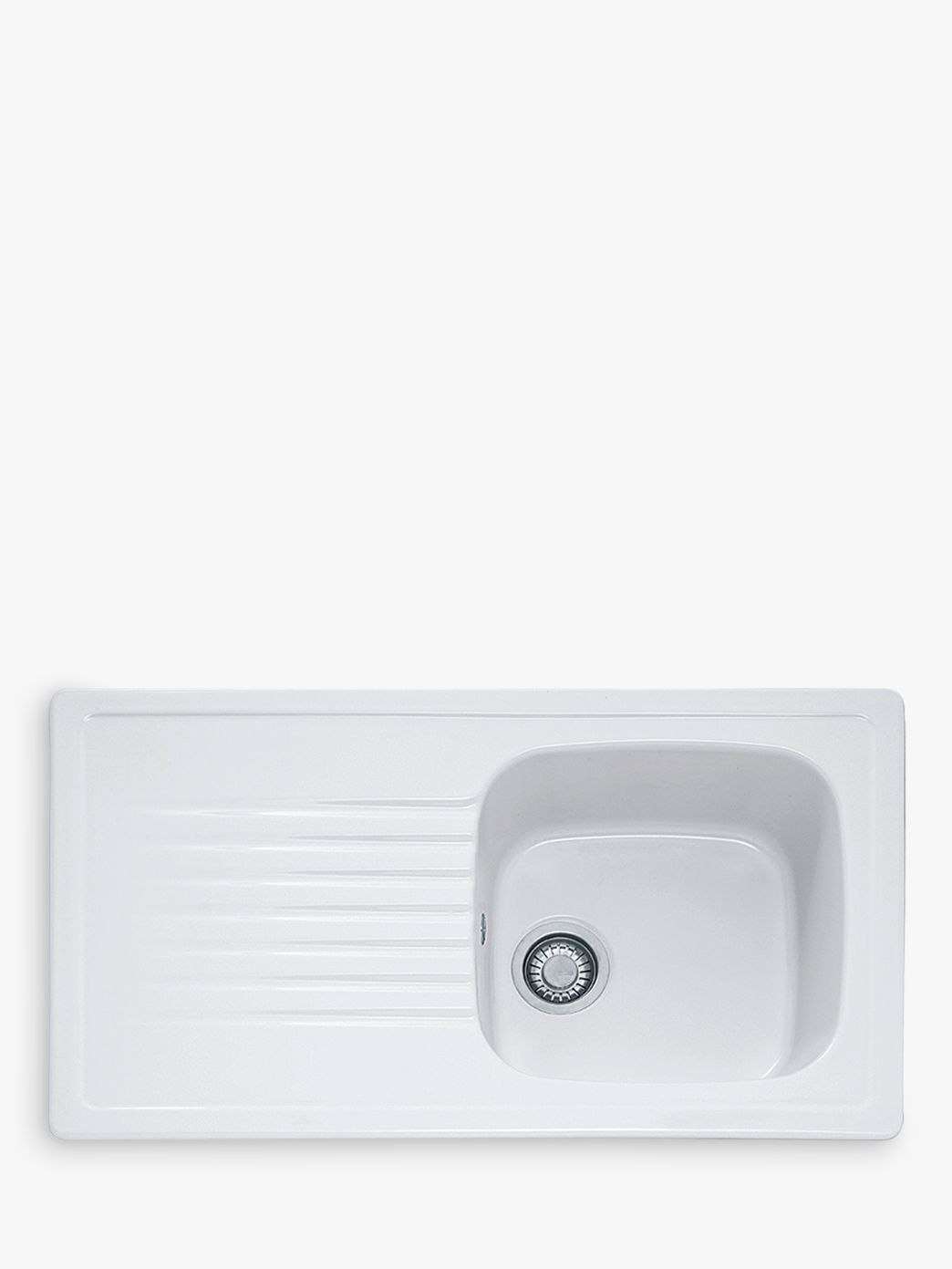 Villeroy & Boch Villeroy & Boch Elba ELK 611 Single Bowl Ceramic Inset Kitchen Sink, White
