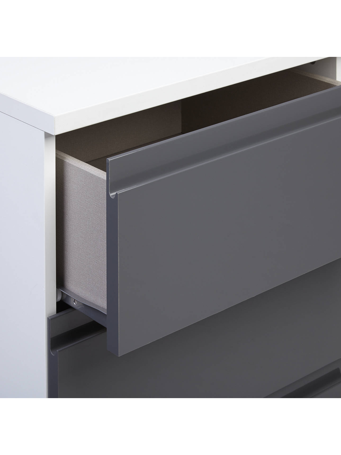BuyHouse by John Lewis Mix it Narrow 4 Drawer Chest, Gloss House Steel/Matt White Online at johnlewis.com