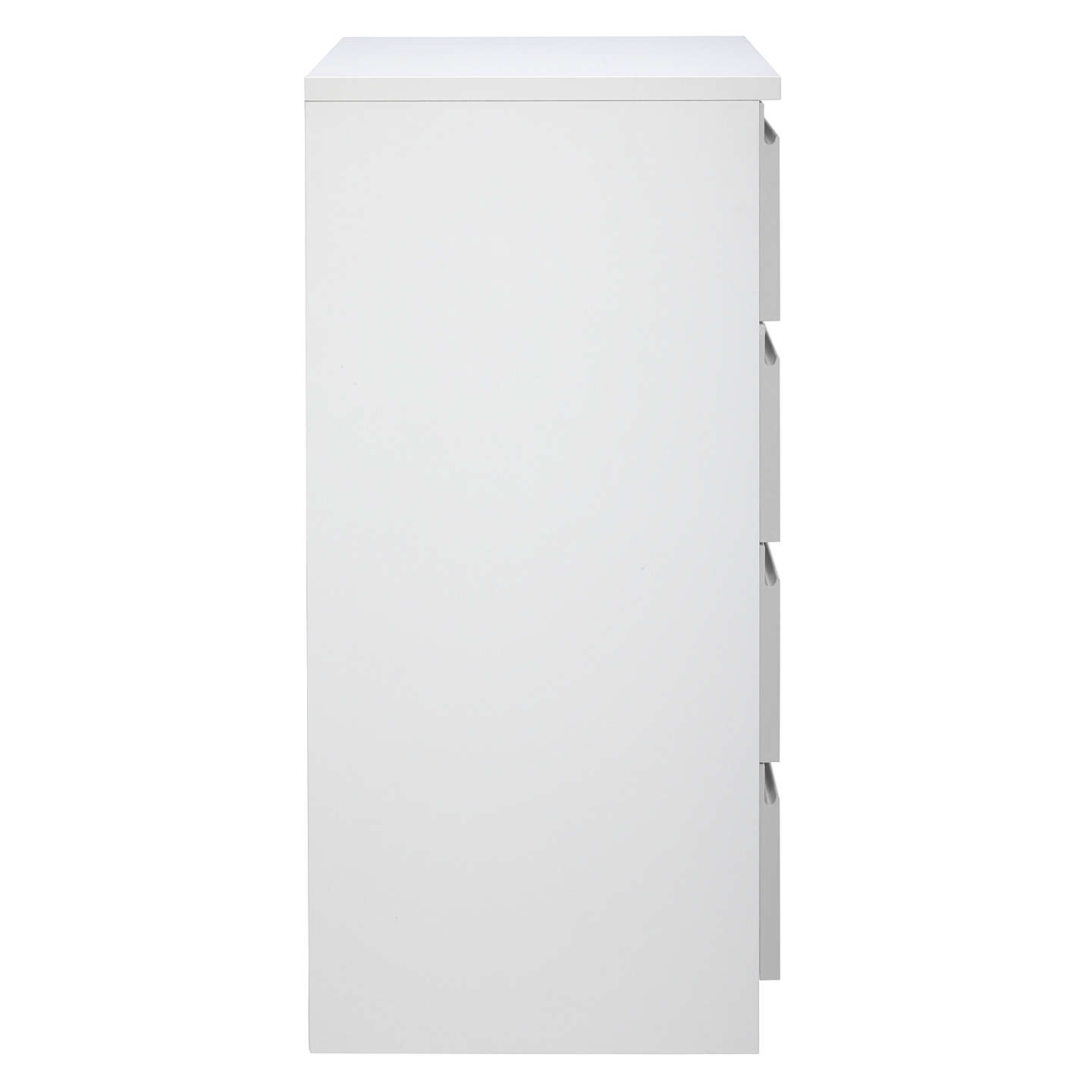 BuyHouse by John Lewis Mix it Narrow 4 Drawer Chest, House Smoke/Matt White Online at johnlewis.com