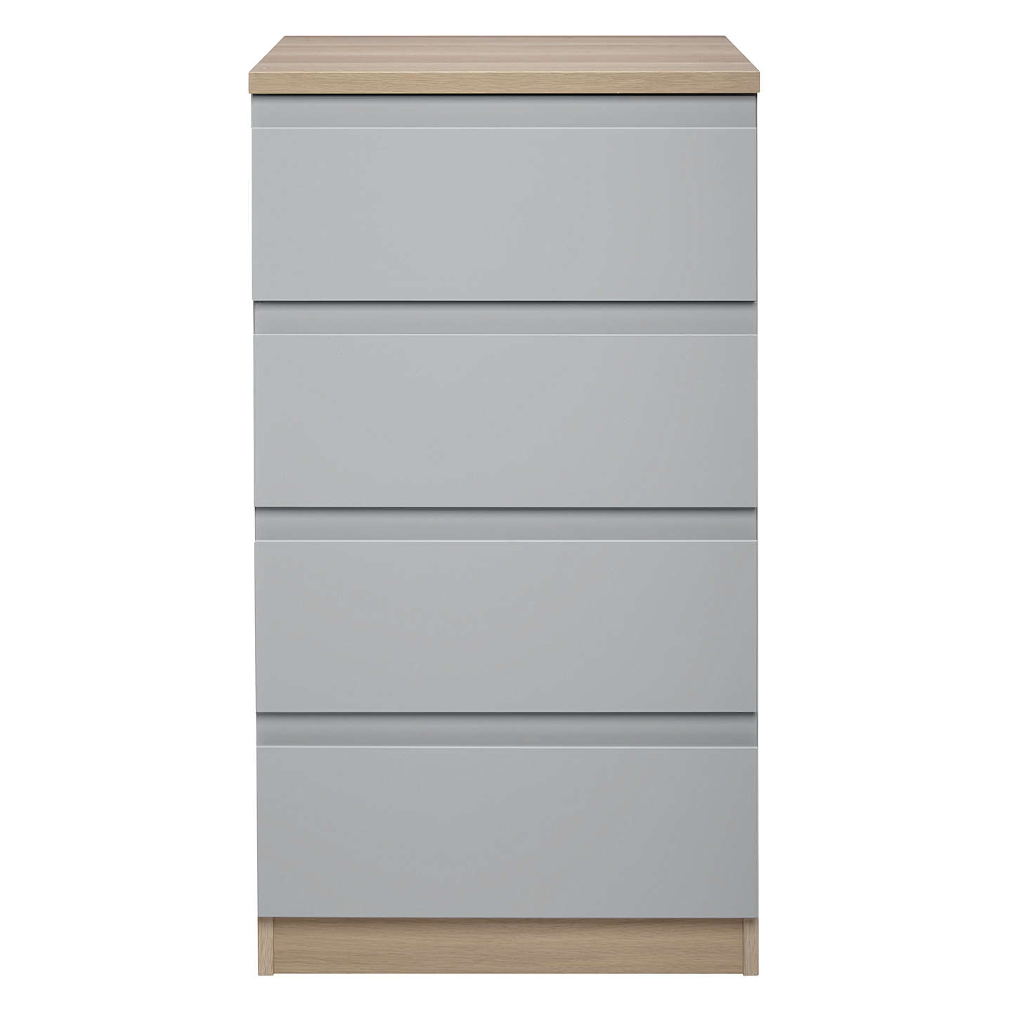 BuyHouse by John Lewis Mix it Narrow 4 Drawer Chest, House Smoke/Natural Oak Online at johnlewis.com