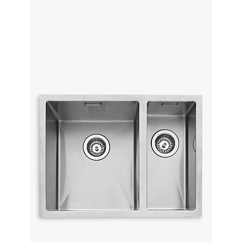 Buy John Lewis Undermount 1.5 Left Hand Bowl Kitchen Sink ...