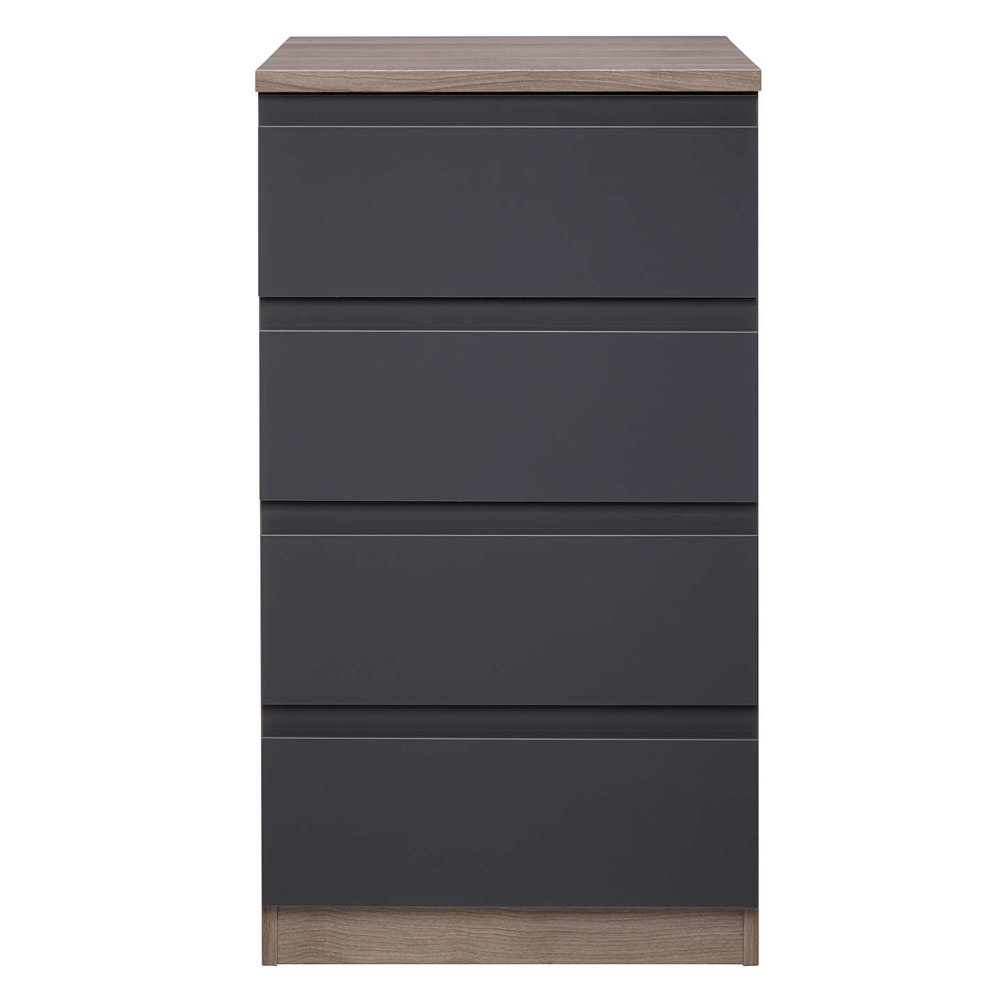 BuyHouse by John Lewis Mix it Narrow 4 Drawer Chest, Gloss House Steel/Grey Ash Online at johnlewis.com