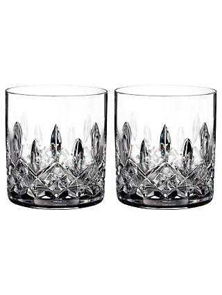 Waterford Lismore Connoisseur Straight Cut Lead Crystal Tumblers, 200ml, Set of 2