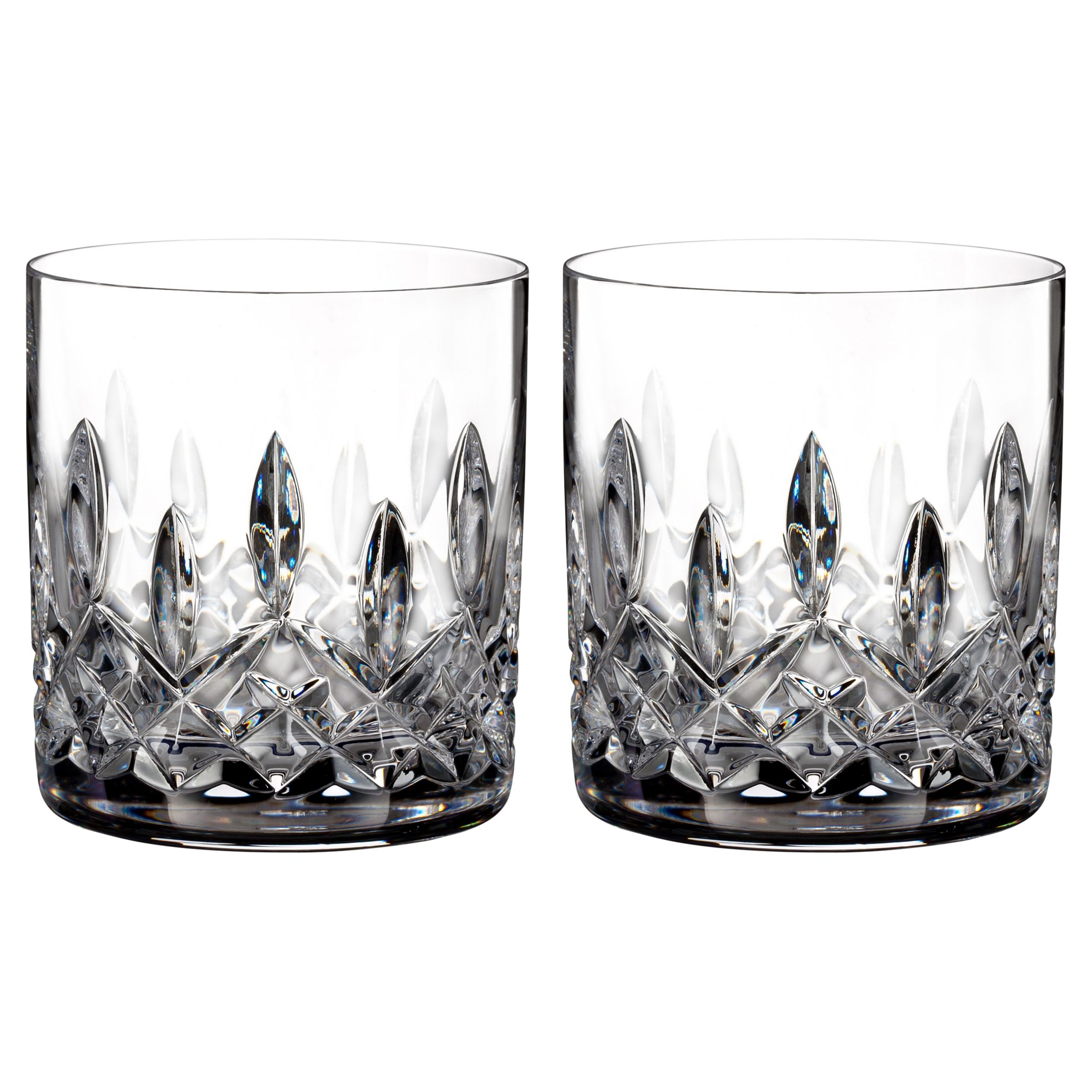 Waterford Waterford Lismore Connoisseur Straight Cut Lead Crystal Tumblers, 200ml, Set of 2