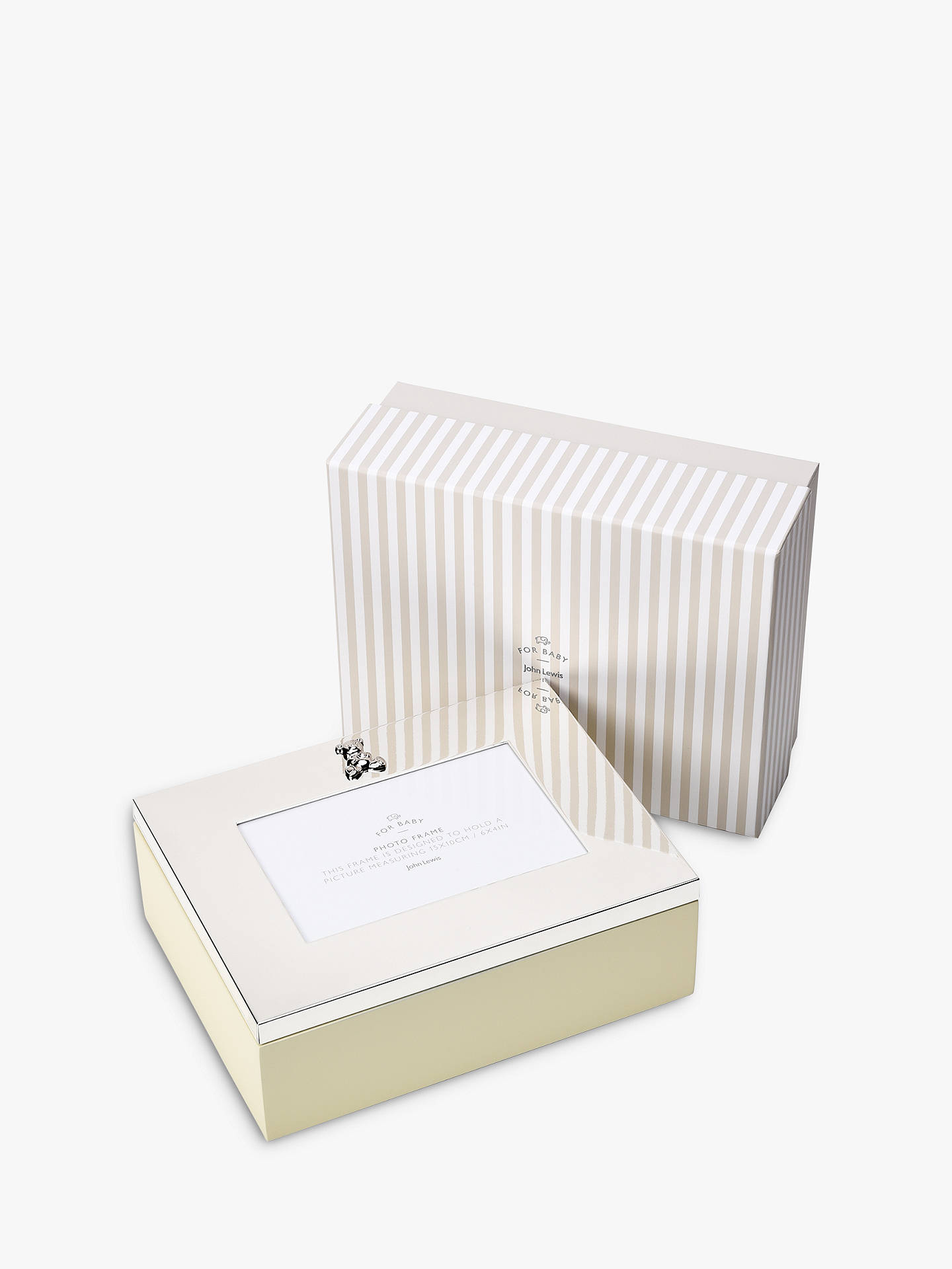 Buy John Lewis & Partners Silver Plated Photo Frame Keepsake Box Online at johnlewis.com