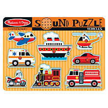 Buy Melissa & Doug Vehicle Sound 8-Piece Puzzle Online at johnlewis.com