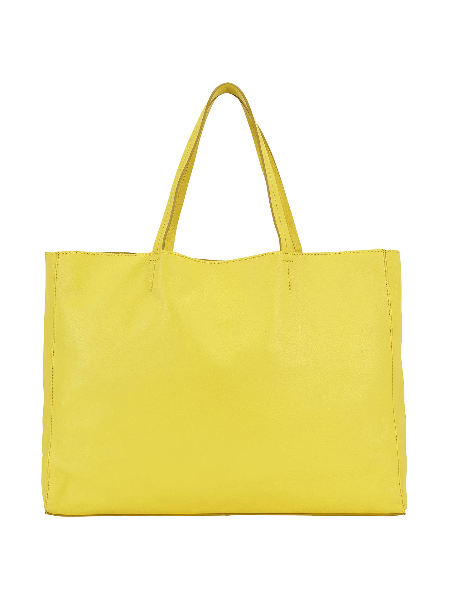bd0434617f4 Buy Collection WEEKEND by John Lewis Morgan Raw Edge Leather Tote Bag,  Yellow Online at ...