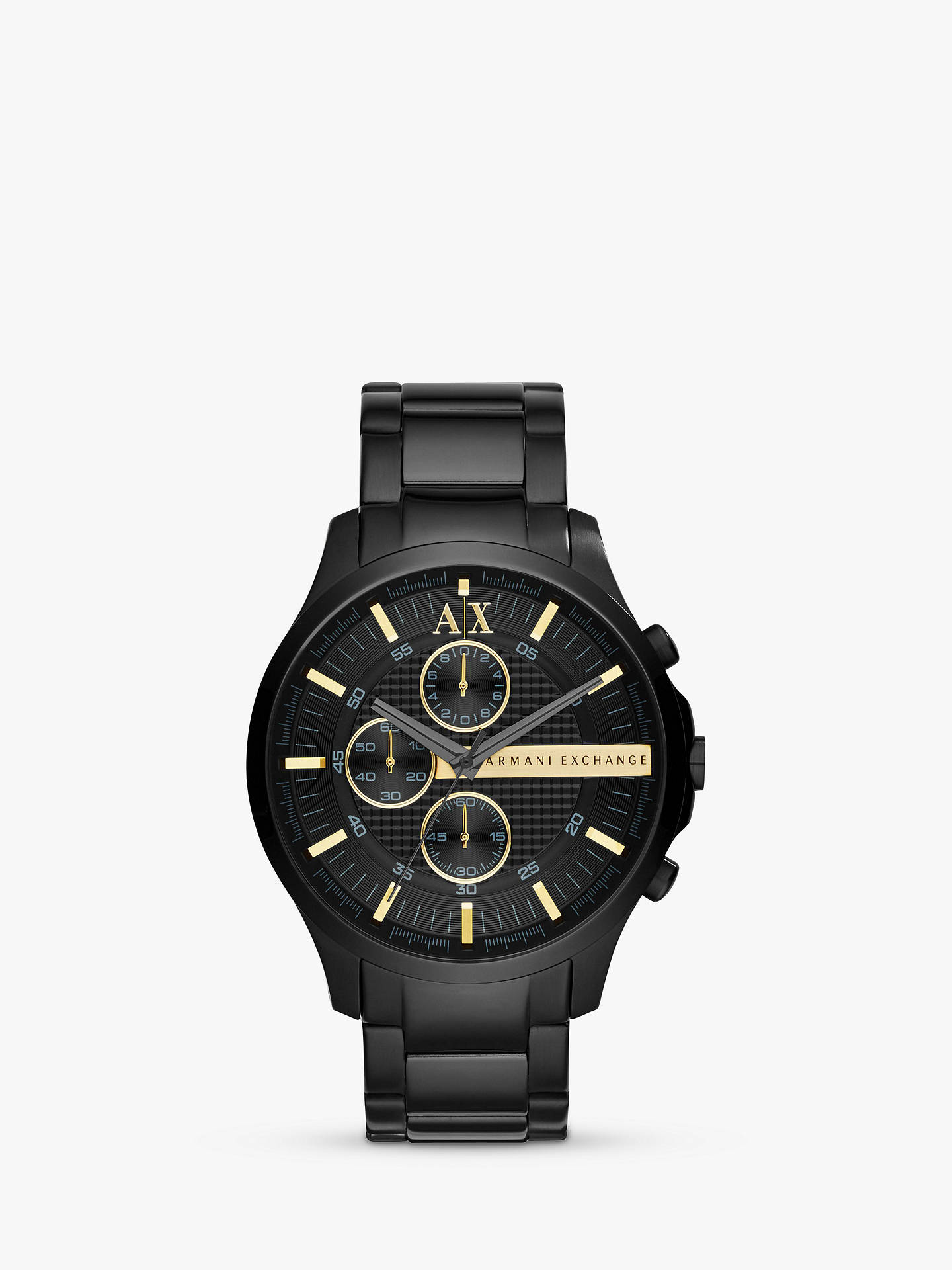 BuyArmani Exchange AX2164 Men's Chronograph Bracelet Strap Watch, Black Online at johnlewis.com