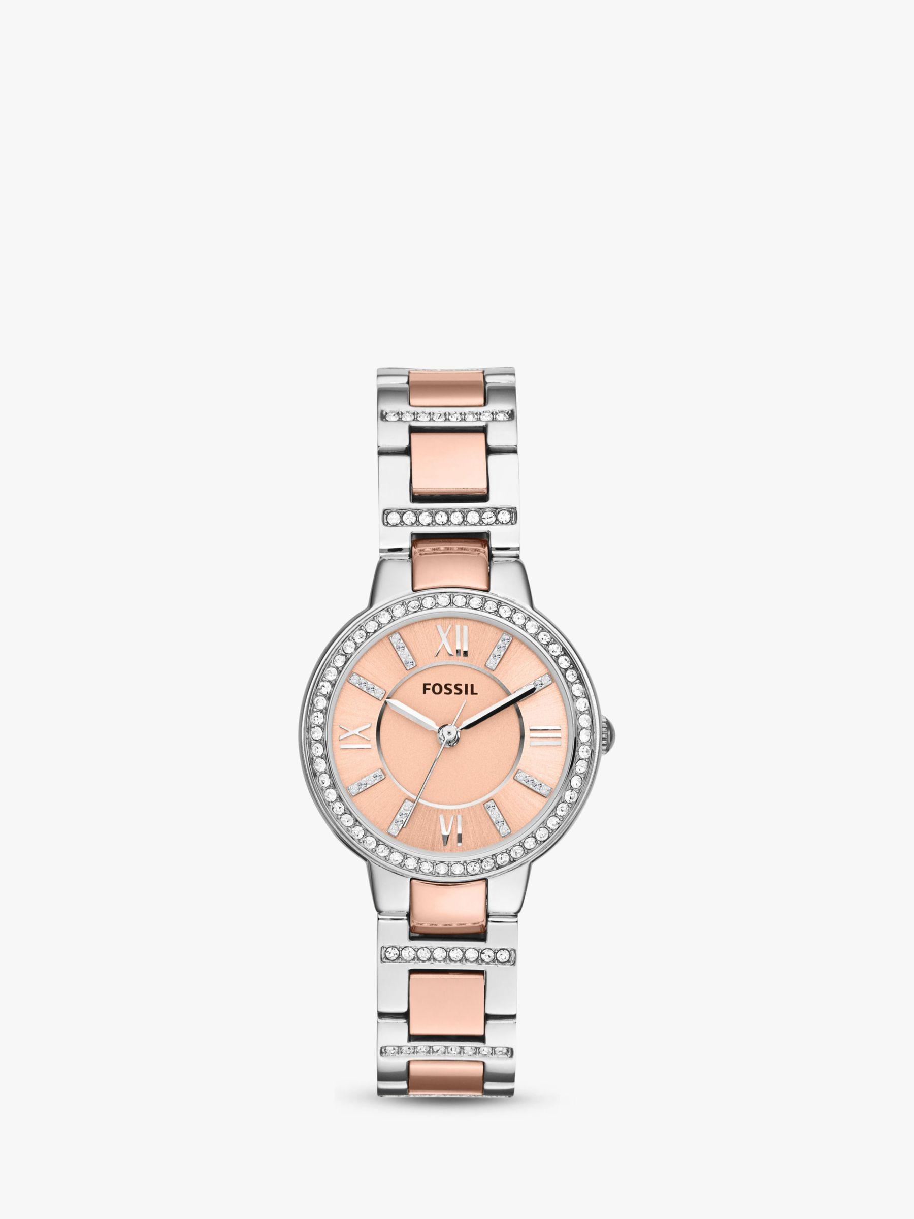 Fossil Fossil Women's Virginia Two Tone Stainless Steel Bracelet Strap Watch