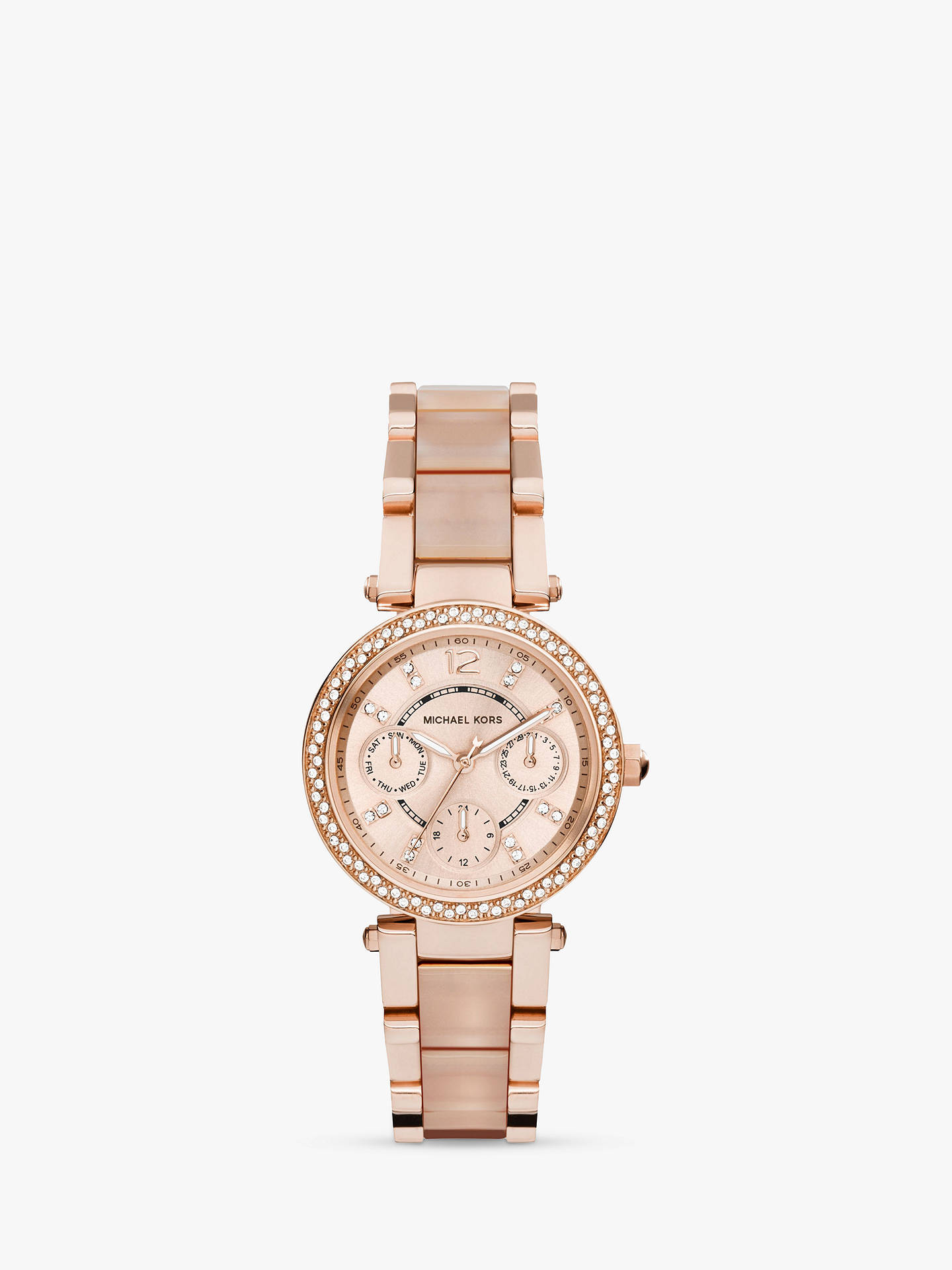 2e73db6b50d6 Michael Kors MK6110 Women s Parker Stainless Bracelet Strap Watch ...