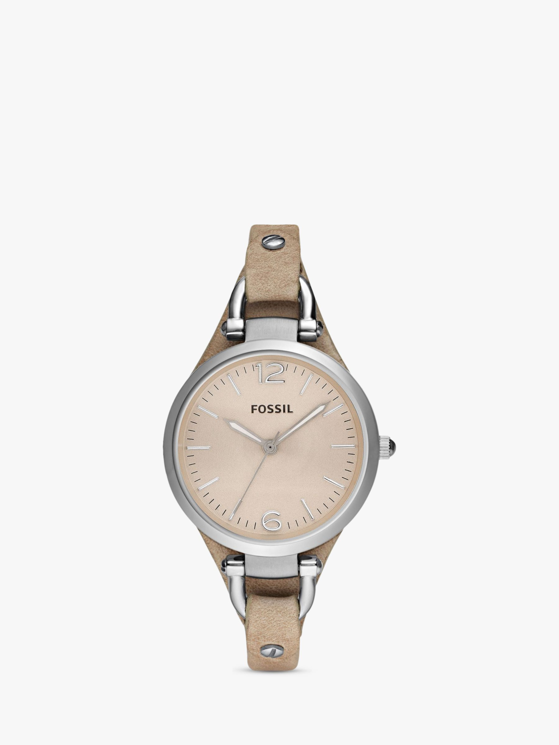 Fossil Fossil ES2830 Georgia Women's Leather Strap Watch, Sand