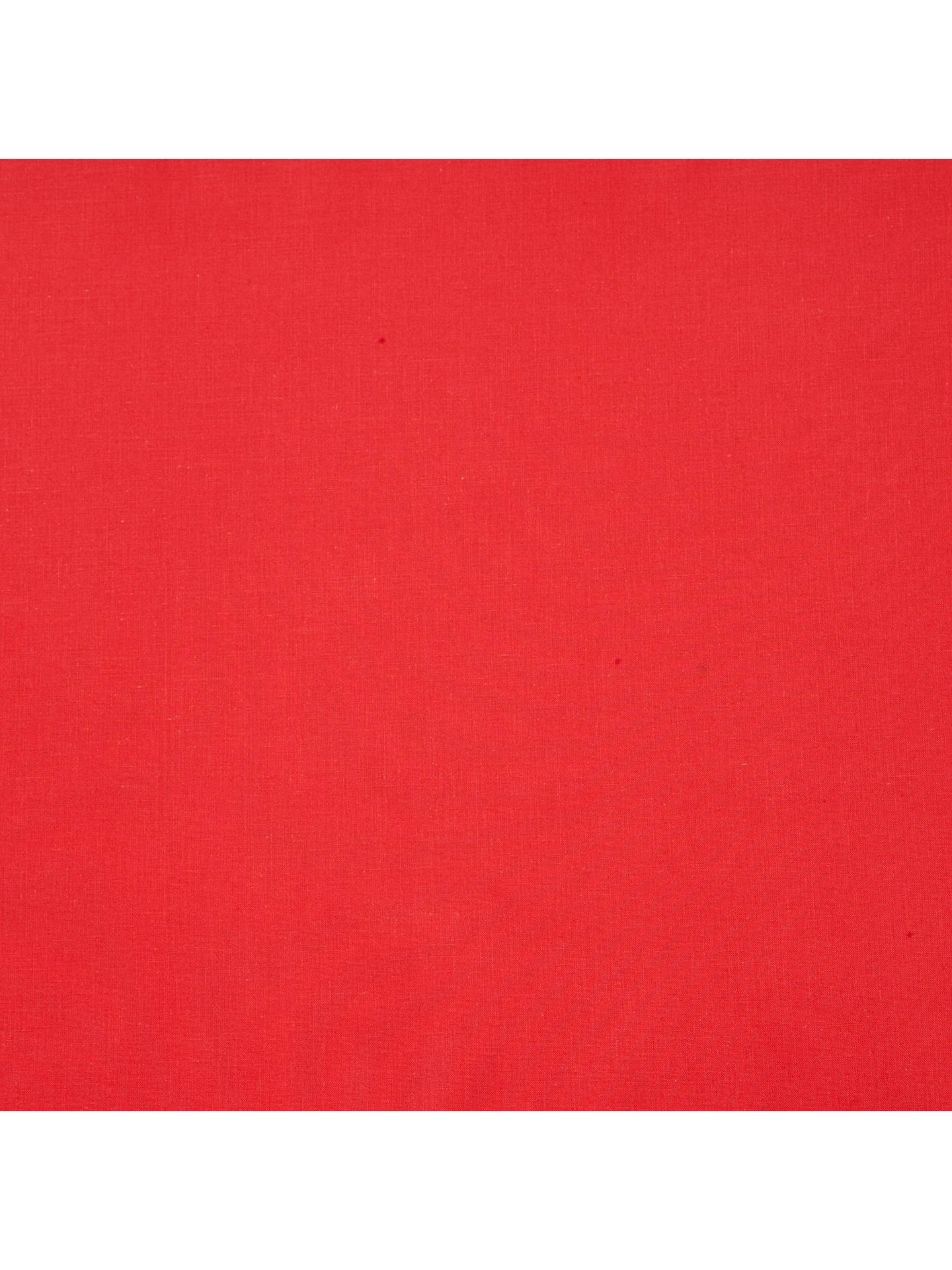 Buy Cotton Blend Sheeting Fabric, Red Online at johnlewis.com