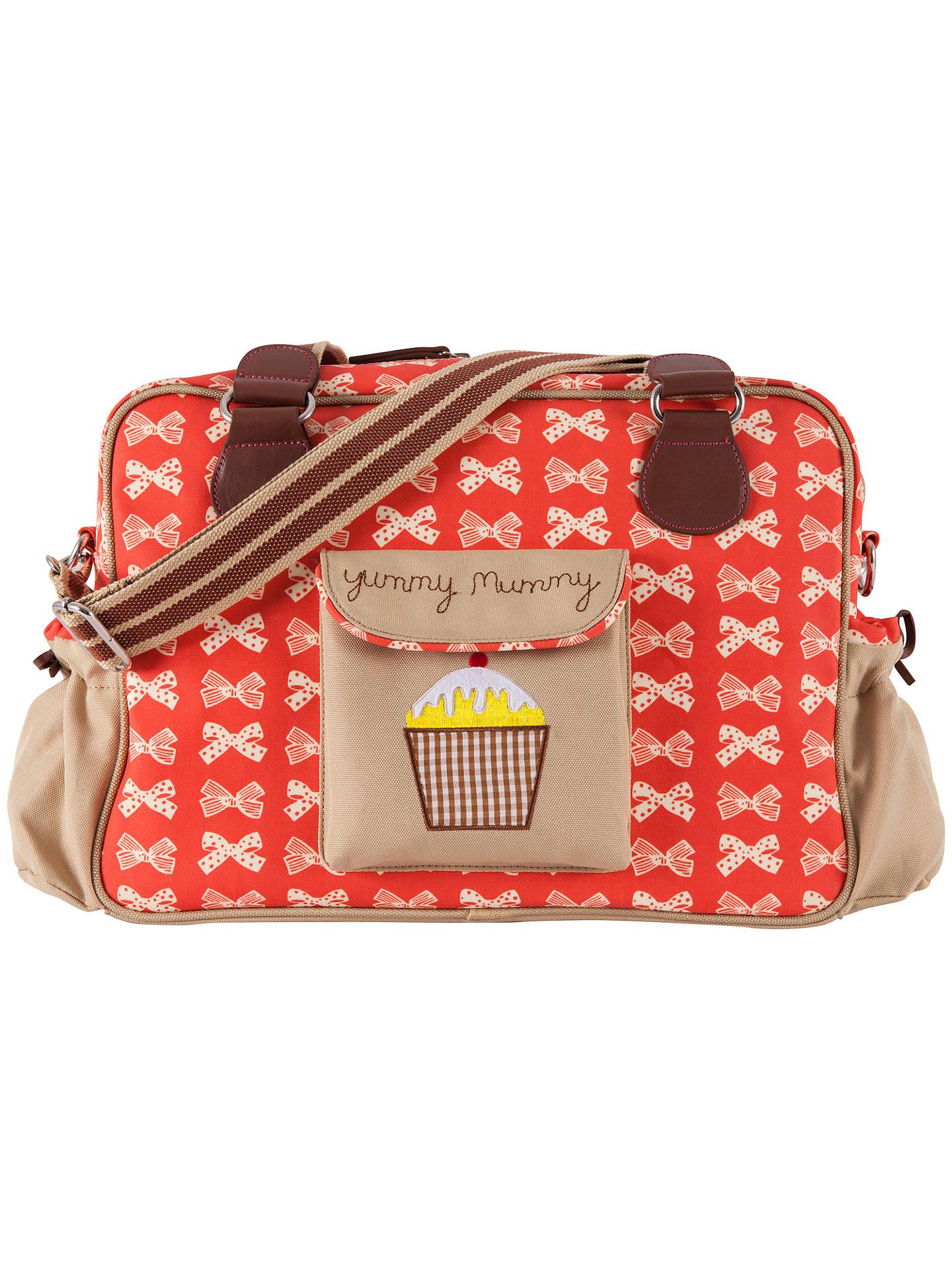 a7ffedb93a Buy Pink Lining Yummy Mummy Bow Print Changing Bag, Red/Cream Online at  johnlewis ...
