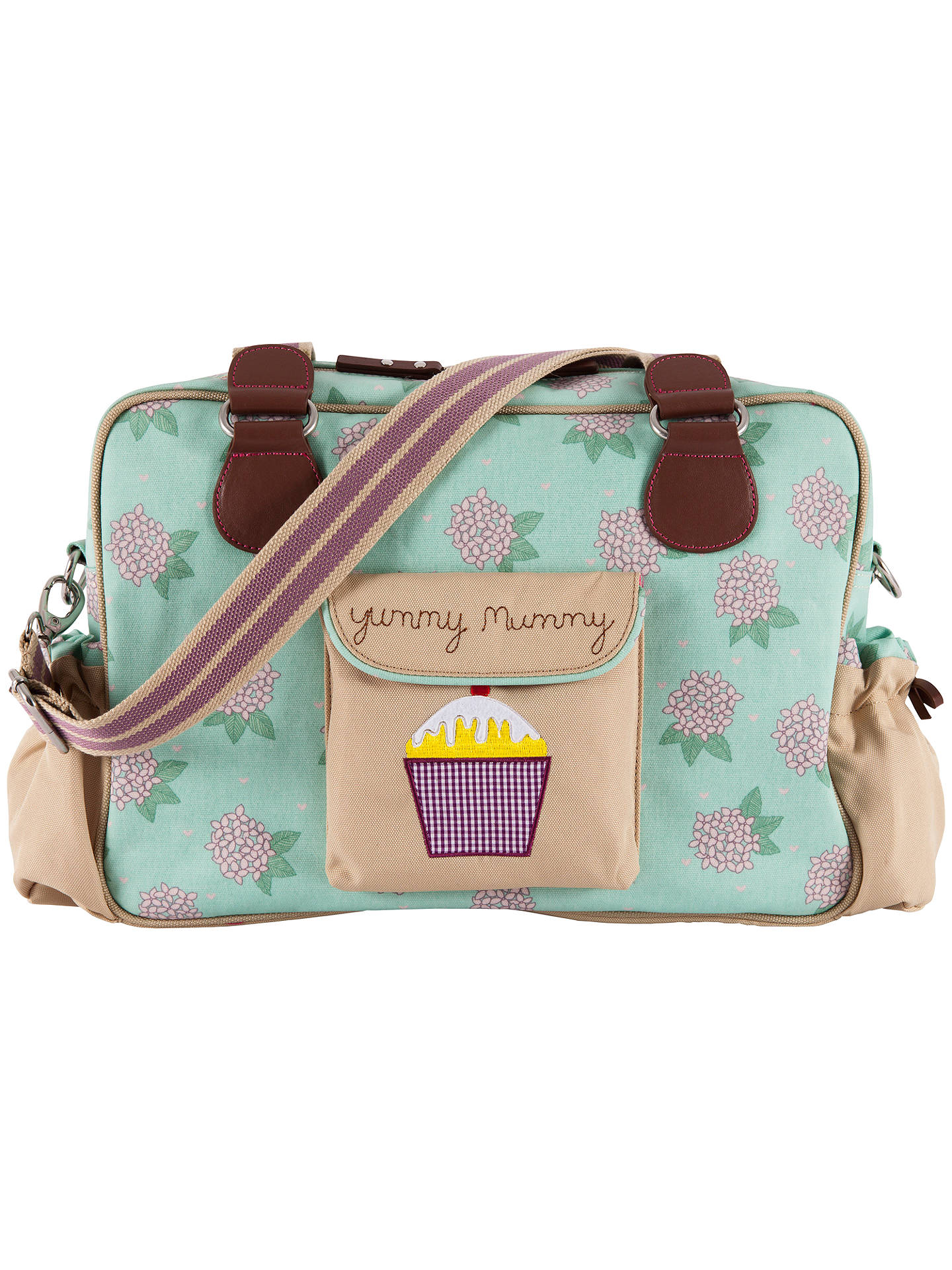 Buy Pink Lining Yummy Mummy Hydrangea Print Changing Bag, Green/Pink Online at johnlewis.com