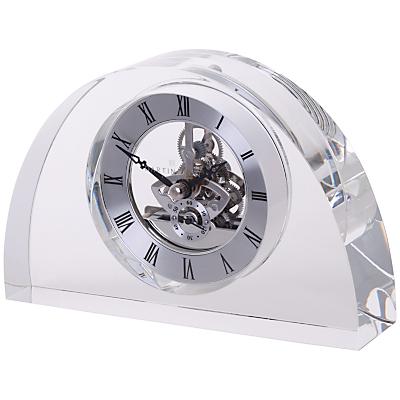 Dartington Crystal Oval Glass Clock