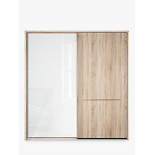 Buy John Lewis Treviso 200cm Wardrobe with Glass and Light Rustic Oak Sliding Doors Online at johnlewis.com