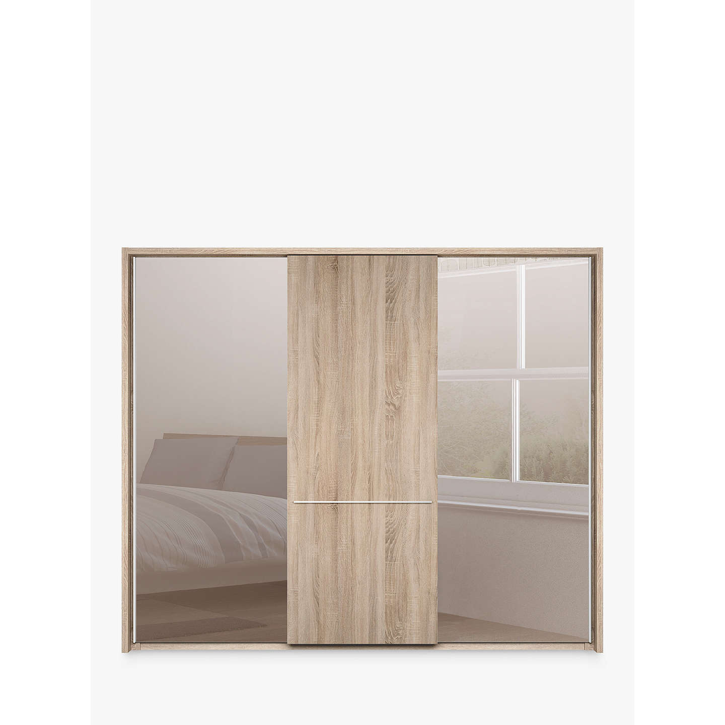 John Lewis Treviso 250cm Wardrobe With Rustic Oak And
